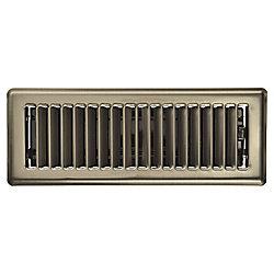 HDX Registre de plancher de 3 po x 10 po - Nickel antique