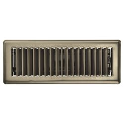 HDX 3 inch x 10 inch Floor Register - Antique Nickel
