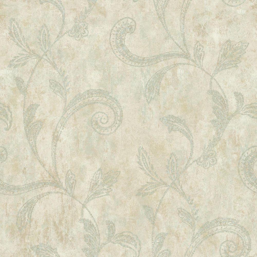 Sapphire Oasis Paisley Trail Wallpaper