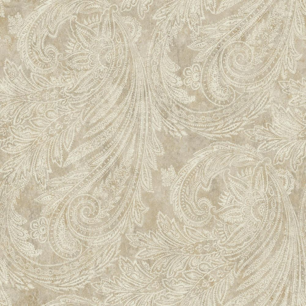 Sapphire Oasis Paisley Wallpaper