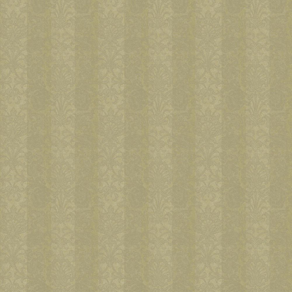 Saint Augustine Metallic Stripe Damask Wallpaper