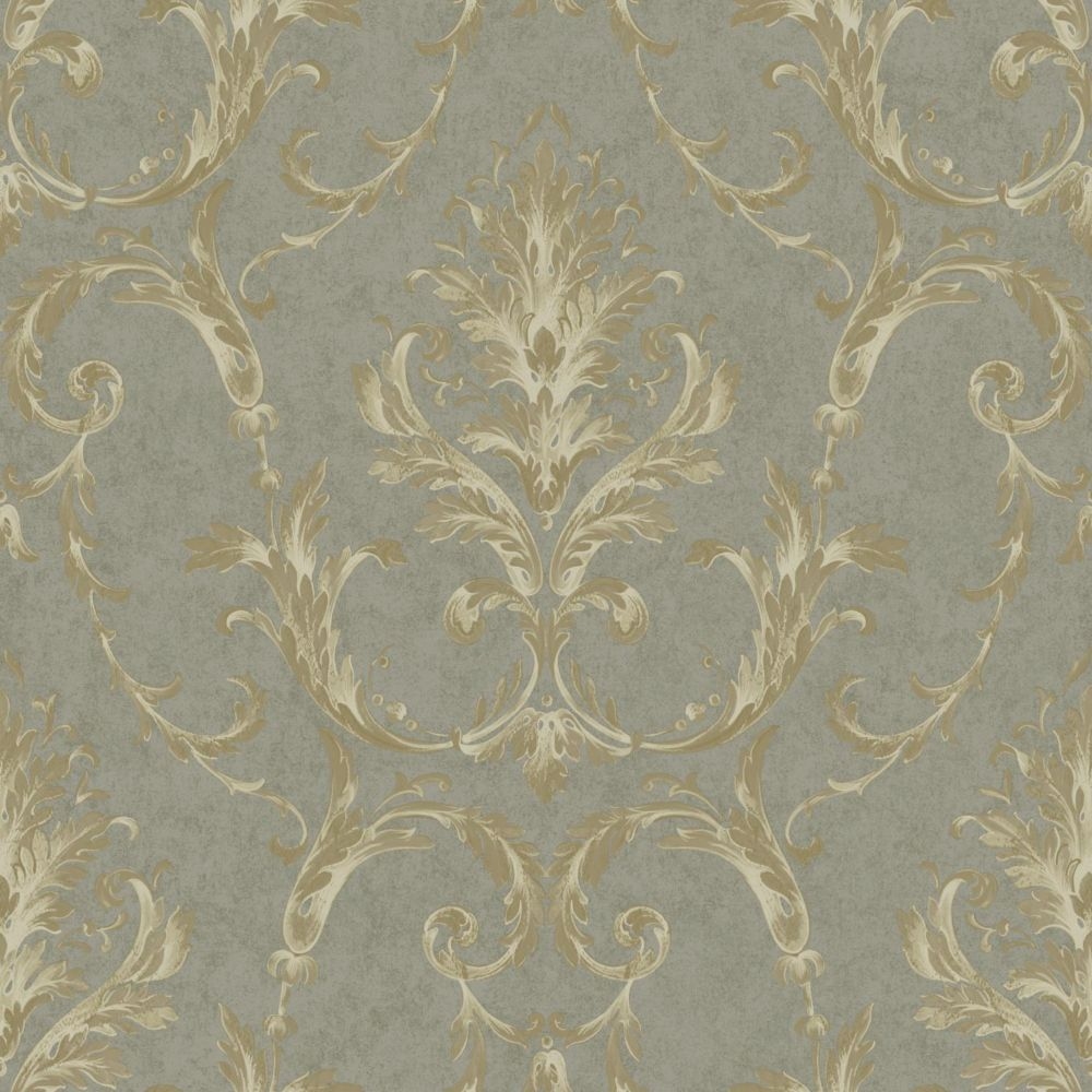 Saint Augustine Neoclassical Damask Wallpaper