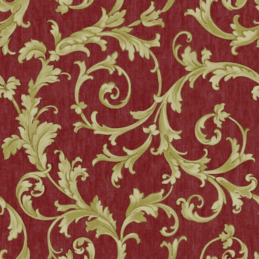 Saint Augustine Embroidered Scroll Wallpaper