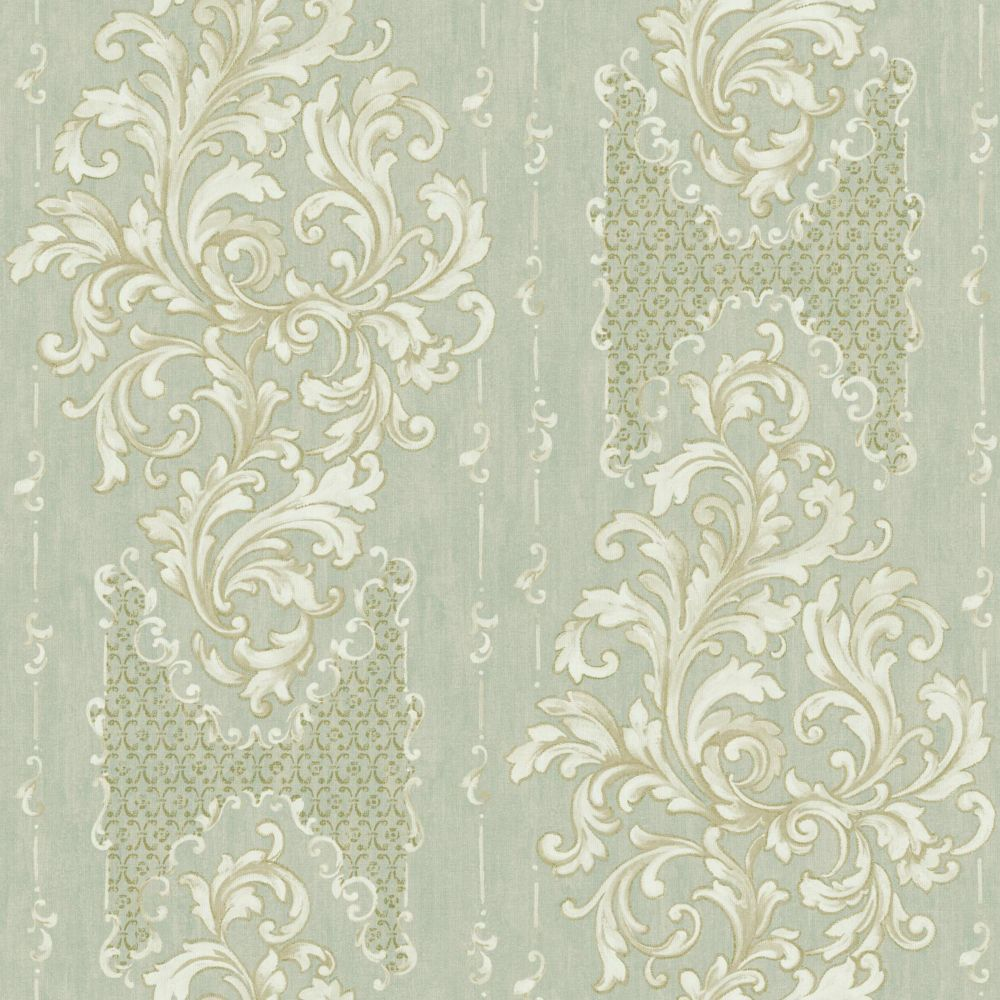 Saint Augustine Embroidered Damask Wallpaper