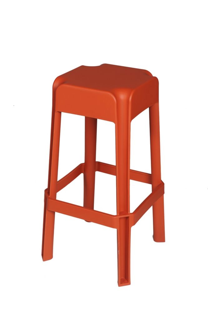 2-Piece Burnt Orange Stool