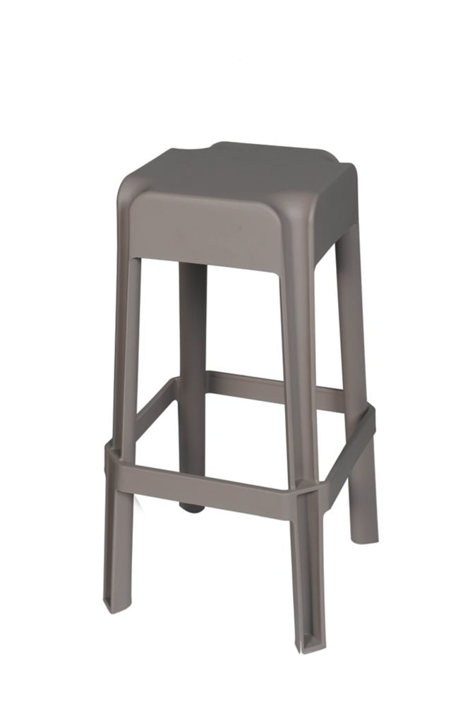 Taupe Tabouret, 2pc