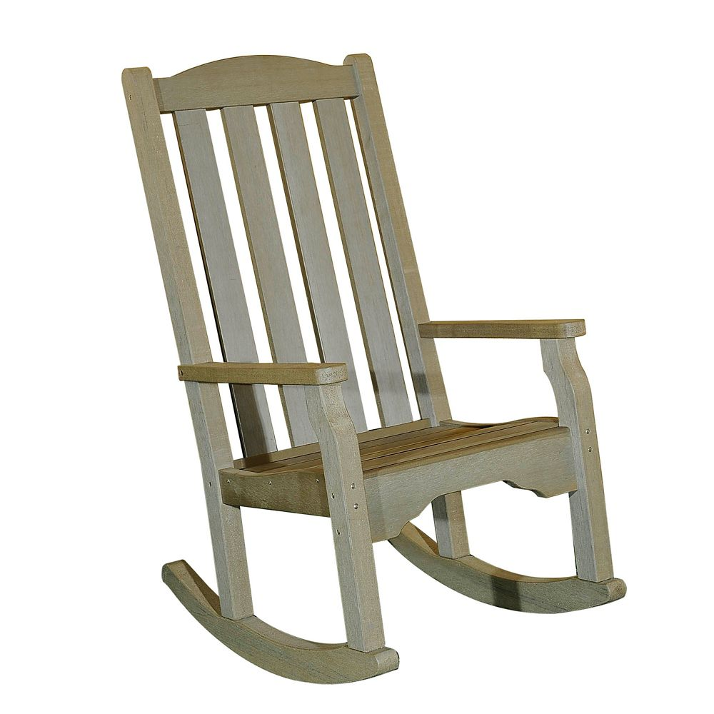 Greenfield Polywood fauteuil à bascule en Gray