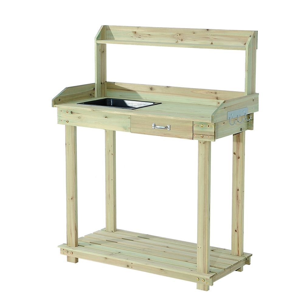Chuch Wooden Potting Bench