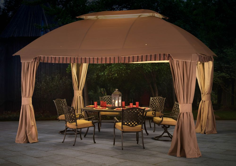 Ridder Gazebo with Mosquito Netting (9.79 ft. W x 9.79 ft. H x 13.08 ft. D)