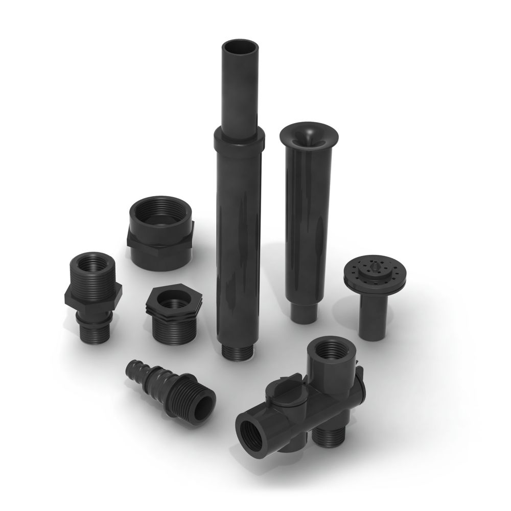 Algreen Products 3/4-inch & 1/2-inch Fountain Nozzle Component Kit for 200, 320, 500, 850 GPH Fountain and Pond Pumps