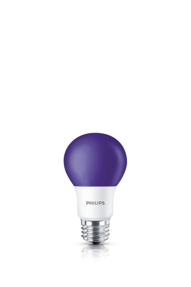 DEL 60 W mauve  A19 ampoule colorée