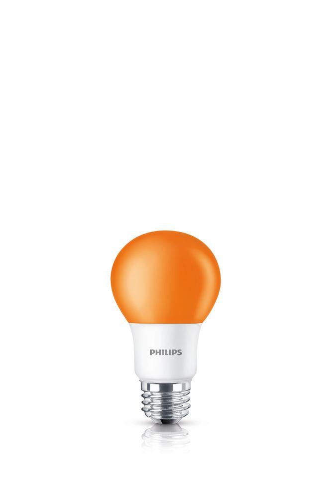 DEL 60 W orange  A19 ampoule colorée