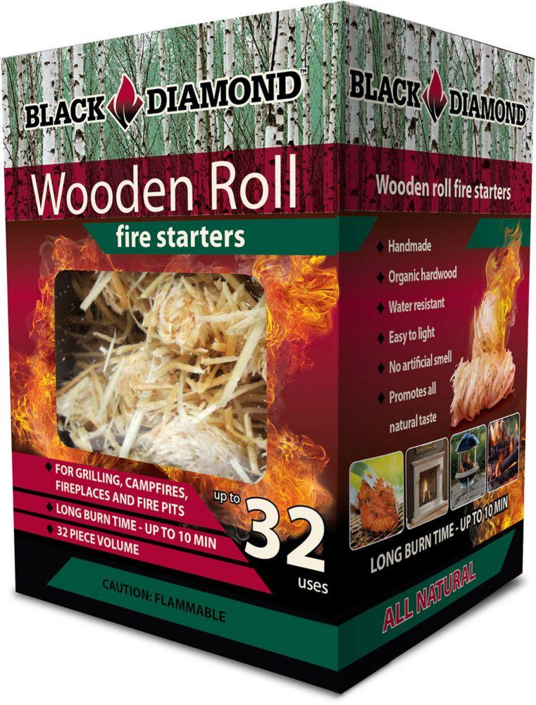 Black Diamond Wooden Roll Fire Starters 32 Pack