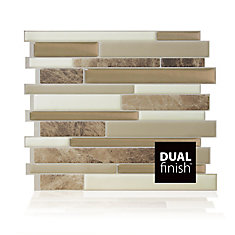 Milano Sasso 11.55-inch W x 9.65-inch H Peel & Stick Decorative Mosaic Wall Tile Backsplash (6-Pack)