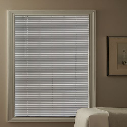 Hampton Bay Cordless 1 3/8-inch Aluminum Blind White 24-inch x 48-inch (Actual width 23.625-inch)