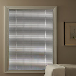 Hampton Bay Cordless 1 3/8-inch Aluminum Blind White 48-inch x 48-inch (Actual width 47.625-inch)