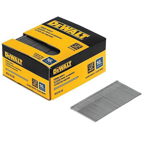 DEWALT DCS16150 16 Gauge 1-1/2 Inch Straight Finish Nails
