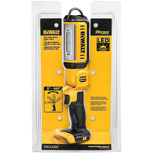 DEWALT 20V MAX Lithium-Ion Cordless LED Hand Held Area Light (Tool-Only)