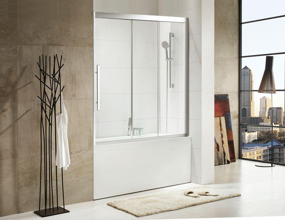 60 po x 60 po porte coulissante de douche baignoire sans for Porte patio 60 pouces