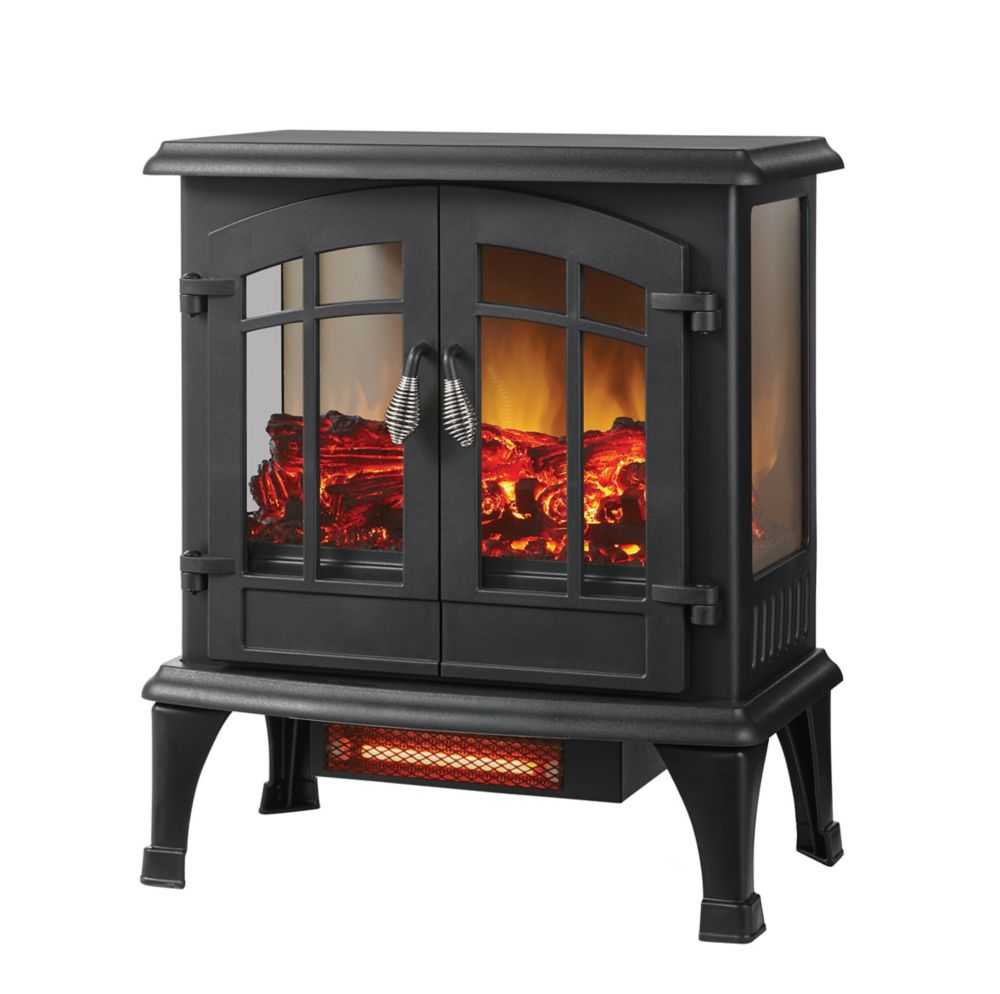 20-inch Matte Black Electric Infrared Stove
