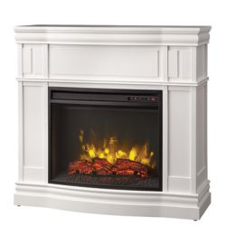 Home Decorators Collection Somerston 40 Inch  Corner Mantel White