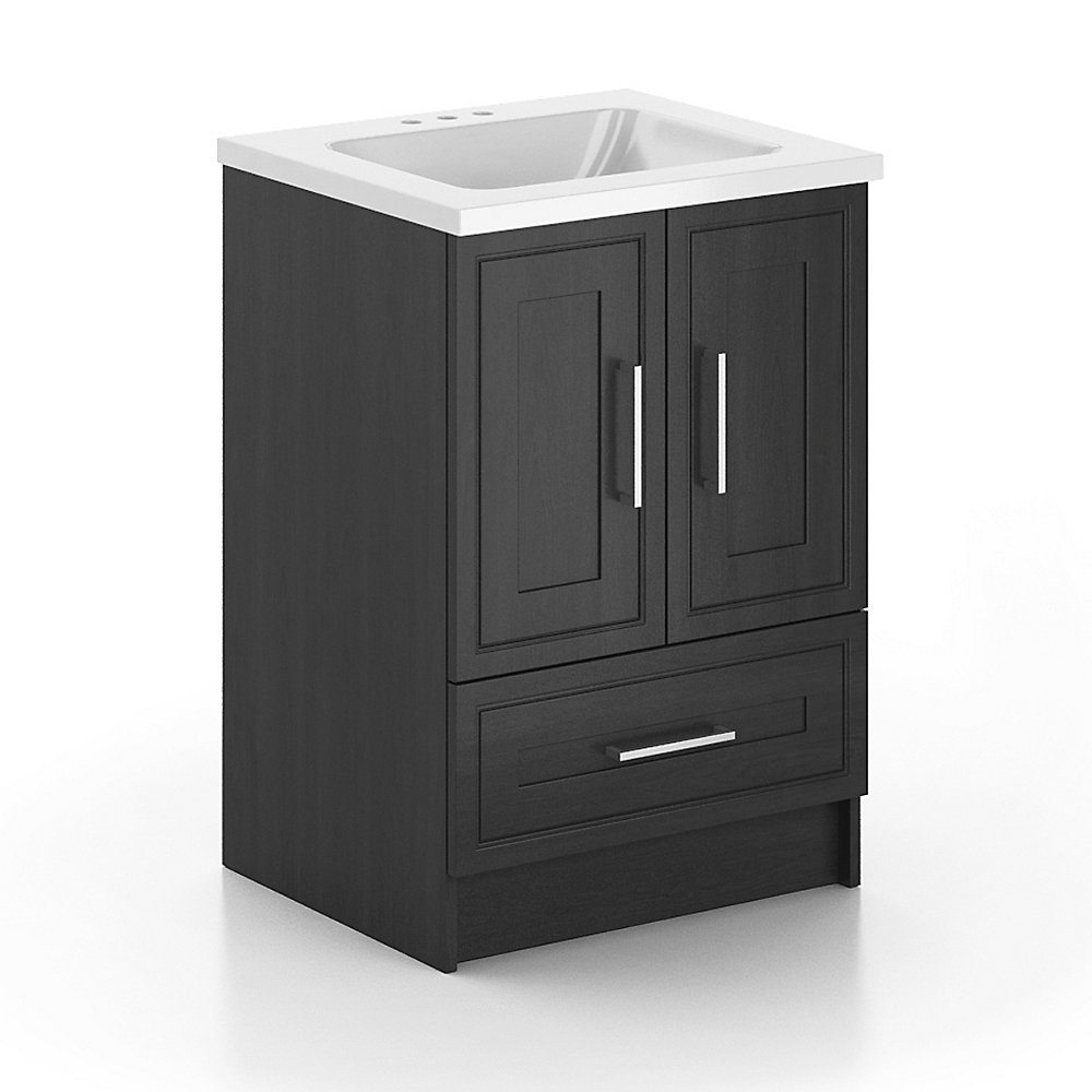 24-inch  Vanity Cabinet with Marble Top