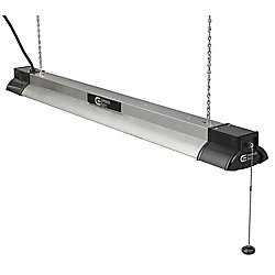 Commercial Electric 40-inch LED Shop Light  in Brushed Nickel with Bluetooth Speakers - ENERGY STAR®