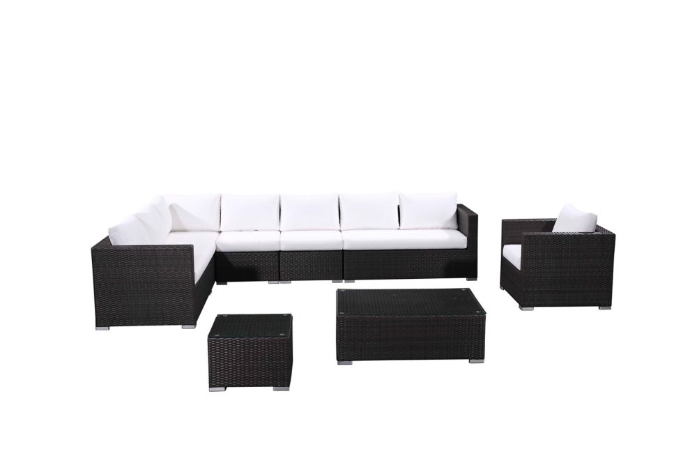 Sectional Outdoor Lounge Set - Modern Resin Wicker Furniture - XXL