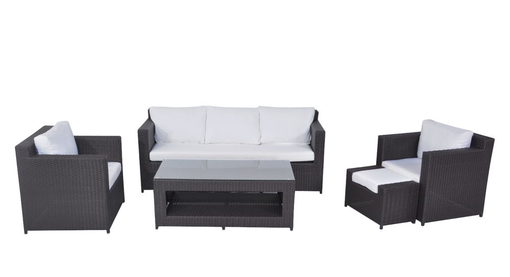 Contemporary Outdoor Sofa Set - Resin Wicker Furniture - ROMA