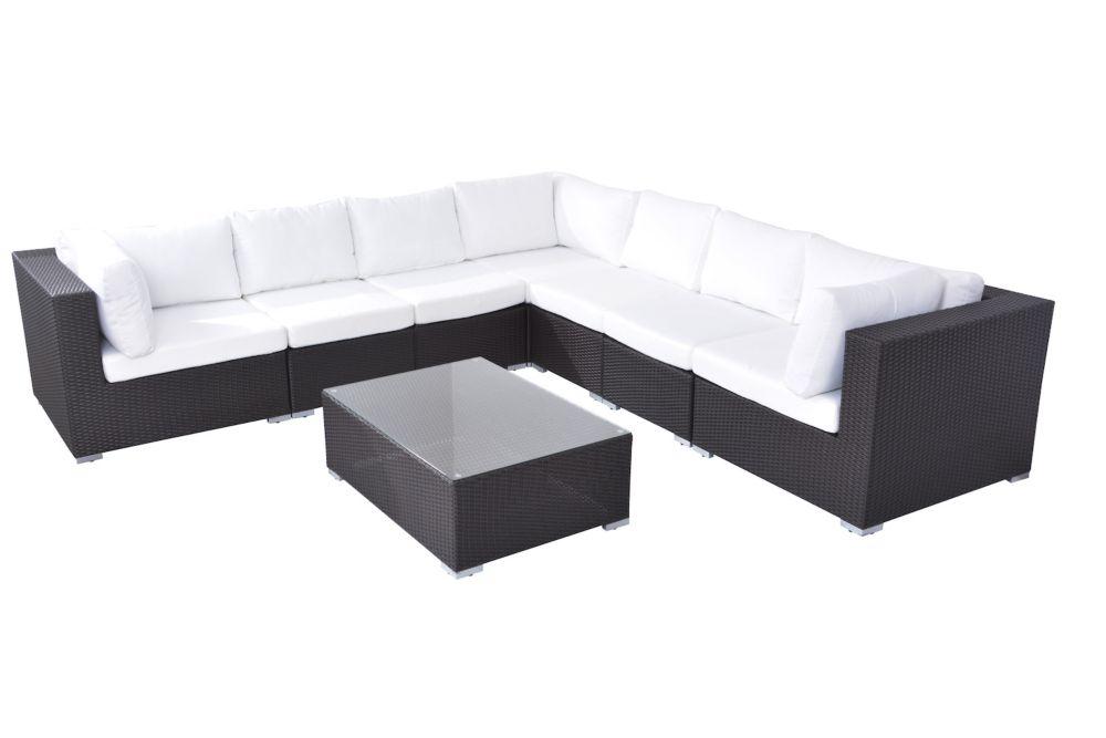Deep Seating Lounge Set - Modular Outdoor Wicker Furniture - GRANDE