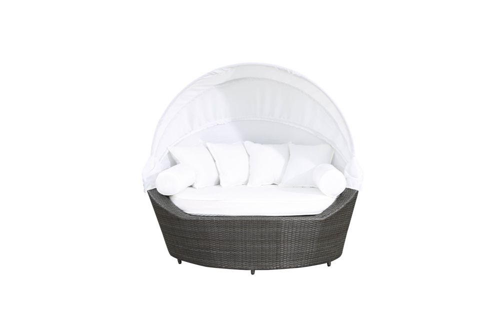 Outdoor Canopy Loveseat - Covered Daybed - Synthetic Wicker - SYLT