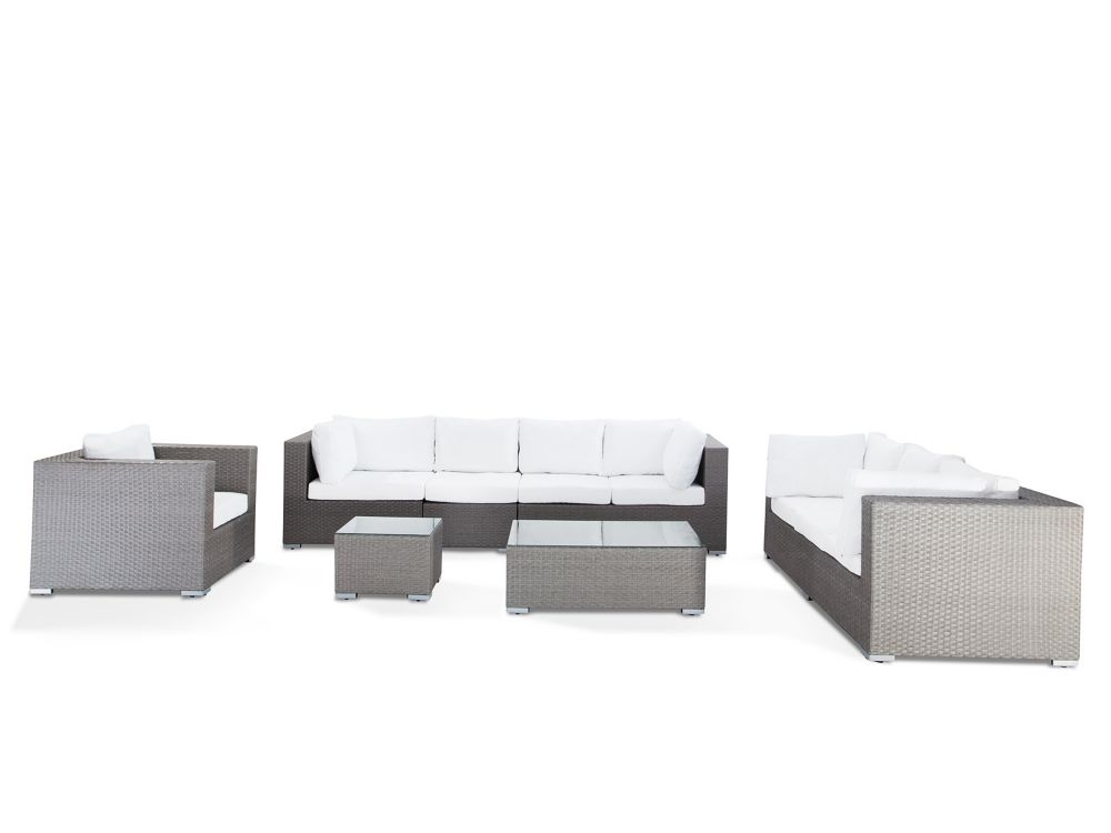 Grey Wicker Lounge Set - Luxury Outdoor Furniture - MAESTRO