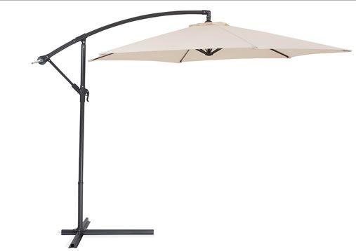 Cantilever Outdoor Umbrella - Side Post Umbrella - METALL beige