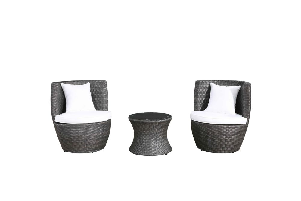 Rattan Outdoor Set - Patio Furniture - Chairs - Table - CAPRI