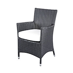 Velago Chiasso All-Weather Wicker Patio Dining Chair Set (Set of 2)