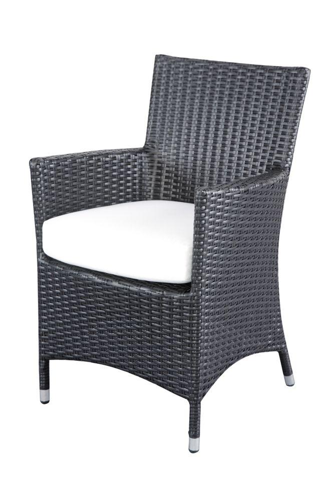 Chaise de jardin en rotin - coussin beige - Italy