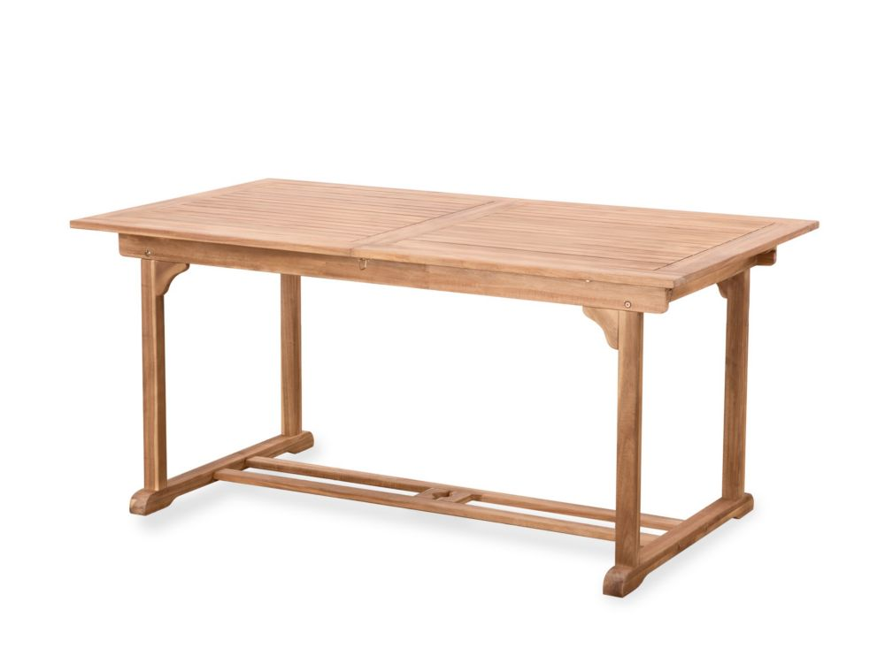 Teak Style Outdoor Dining Table - Size Adjustable - RIVIERA