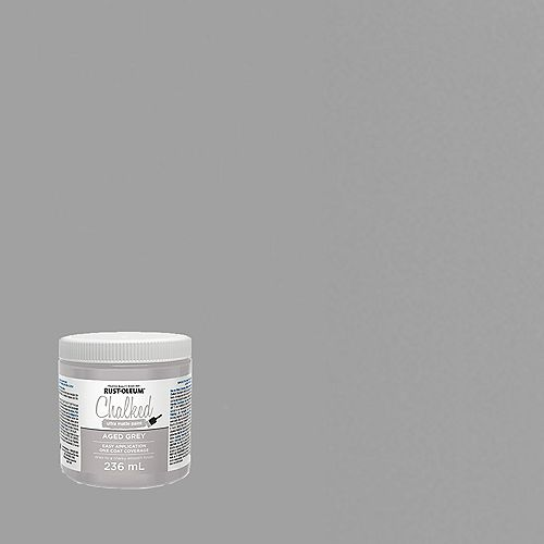 Rust-Oleum Chalked Ultra Matte Paint In Aged Grey, 236 Ml