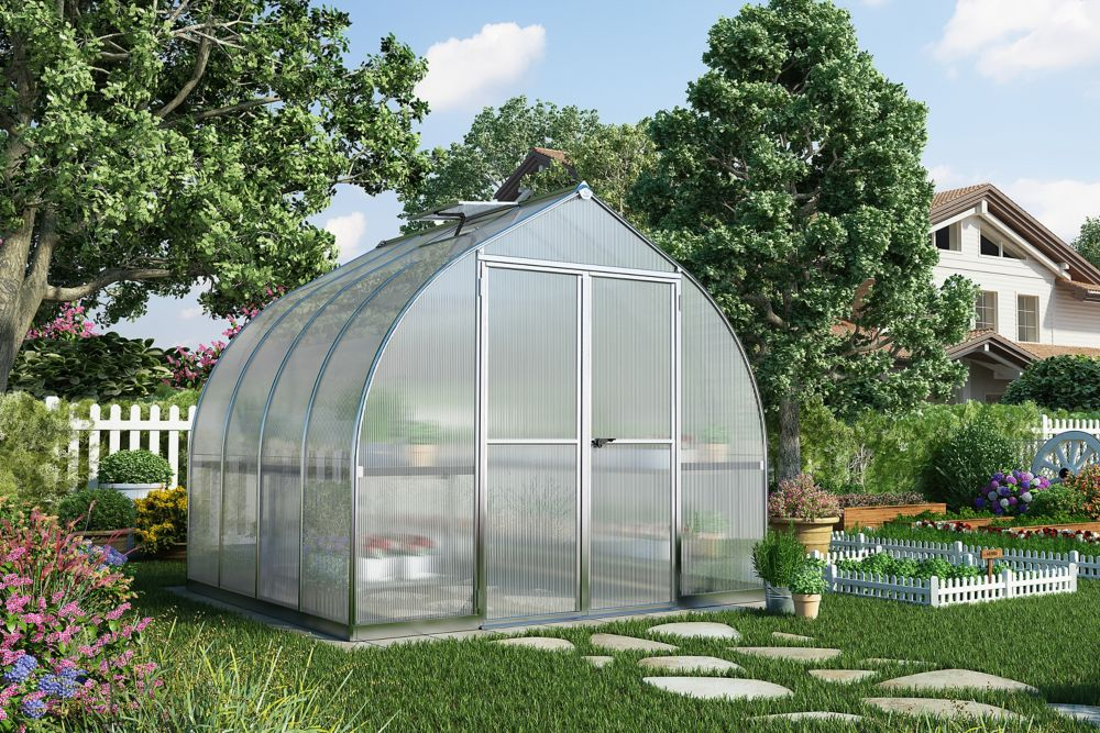 Palram Bella 8 ft. x 8 ft. Greenhouse