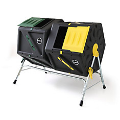 105L Tumbling Composter with Dual Chambers