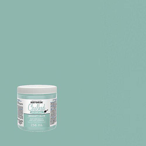 Rust-Oleum Chalked Ultra Matte Paint In Serenity Blue, 236 Ml