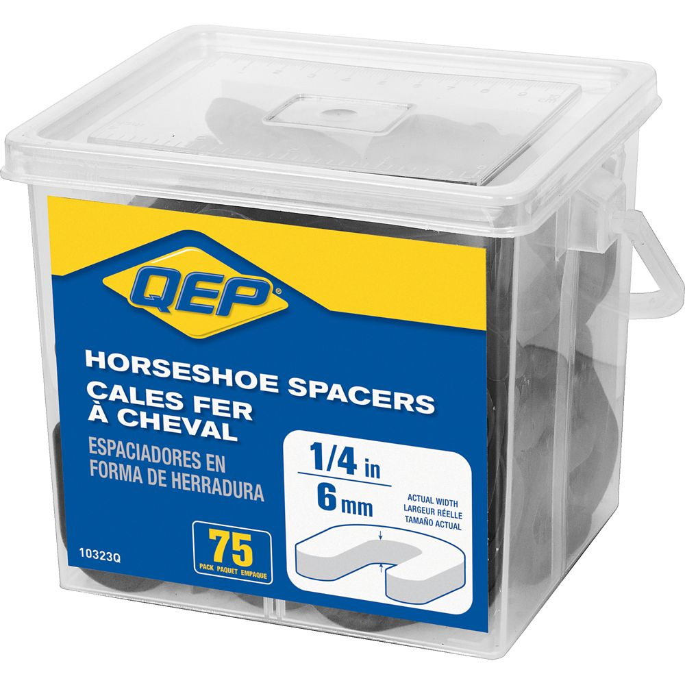 QEP 1/4 inch Horseshoe Tile Spacers (Pail of 75)