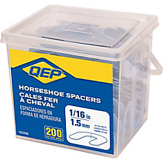 1/16 inch Horseshoe Tile Spacers (Pail of 200)