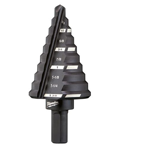 Milwaukee Tool 1/4-inch - 1-3/8-inch x 1/8-inch 5 Step Black Oxide Drill Bit