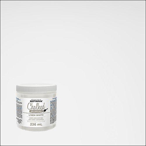 Rust-Oleum Chalked Ultra Matte Paint In Linen White, 236 Ml