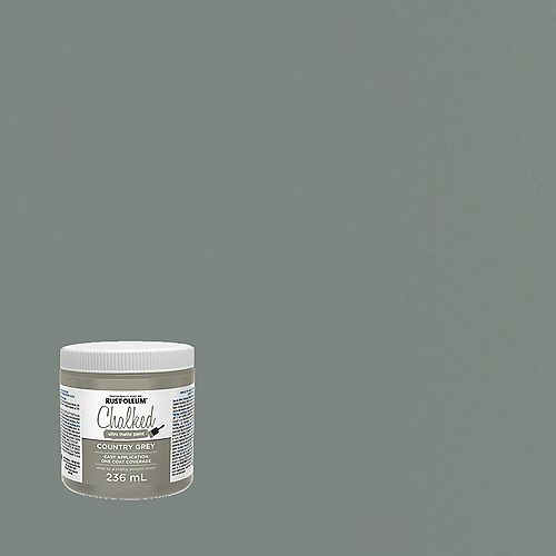 Rust-Oleum Chalked Ultra Matte Paint In Country Grey, 236 Ml