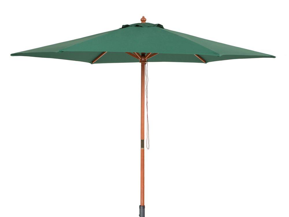 Wooden Patio Umbrella  - Garden Parasol - Green - TOSCANA