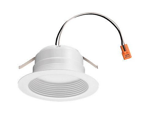 Lithonia lighting 3 inch 4 inch led recessed baffle retrofit 3 inch 4 inch led recessed baffle retrofit module matte white mozeypictures Image collections