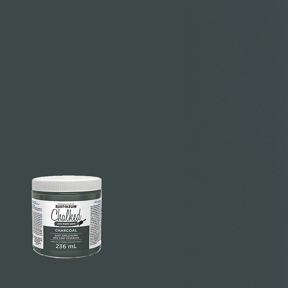 Rust-Oleum Chalked Ultra Matte Paint In Charcoal, 236 Ml