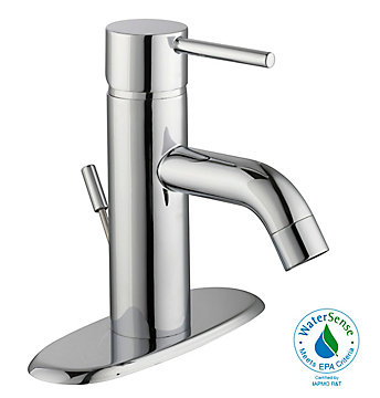 Glacier Bay Modern Single Hole 1 Handle Mid Arc Lever Bathroom Faucet In Chrome The Home Depot Canada